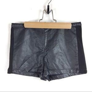 XXI faux leather shorts